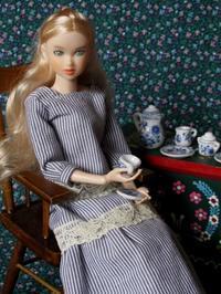 ブルー・オニオン風陶器のミニチュアのティー・セット - Der Liebling ~蚤の市フリークの雑貨手帖3冊目~