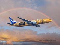 羽田空港から伊丹空港ANA STAR WARS JET - 写真で楽しんでます! スマホ画像!