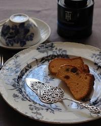 アンティークのお皿とサーバー。 - Rose ancient 神戸焼き菓子ギャラリー