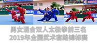 Double Taijiquan 混合双人太极拳 Top3 前三名视频合集 2019年全国武术套锦标赛 女子赛区 - 武術映像