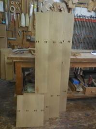 テレビボードのホゾ加工 - 手作り家具工房の記録