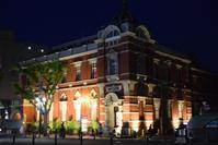 大分銀行赤レンガ館 - ブルーアワーの街の情景