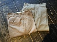 40's U.S.Army khaki trousers - BUTTON UP clothing