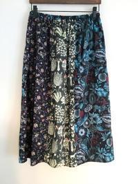 黒系のリバティプリント6枚接ぎスカート - cous cous NEW ARRIVAL