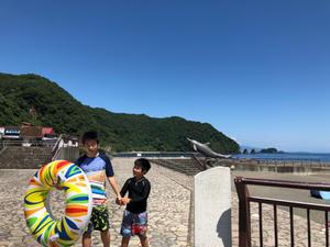 海水浴とステンドグラス美術館 - Flying Kite@Japan!