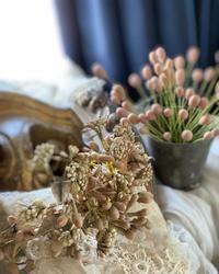 ワックスフラワーの花冠風を作ってみました。 - フレンチシックな家作り。Le petit chateau