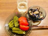 夏野菜三昧の夕食 - ブツヨク日和-年収300万円で目指せ丁寧な暮らし