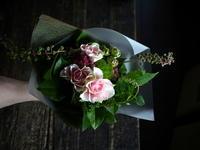 退職される女性への花束。「優しい感じ」。北郷9条にお届け。2019/08/09。 - 札幌 花屋 meLL flowers