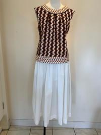 白のギャザースカート - ★ Eau Claire ★ Dolce Vita ★