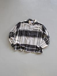 NOMA t.d.N Plaid Shirt / Black × White - 『Bumpkins putting on airs』