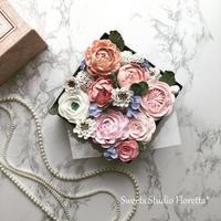 クレイフラワーでフラワーボックスを作ってみた - Sweets Studio Floretta* Flower Cake & Sweets Class@SHIGA