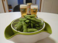 枝豆でビール! - のび丸亭の「奥様ごはんですよ」日本ワインと日々の料理