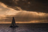 第912回 Picturesque landscapes in Hawaii - 湘南群青 -The sunset  blue -