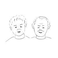 おじいちゃんおばあちゃん - イラストレーション ノート
