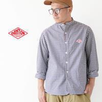 ◯DANTON [ダントン] M's L/S GINGHAM NO COLLAR SHIRTS [JD-3607TRD] ノーカラーシャツ・長袖シャツ・メンズ・男性用・紳士・MEN'S - refalt blog