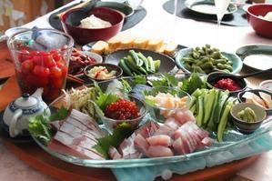 地物のお魚で手巻きすし♪ - 登志子のキッチン