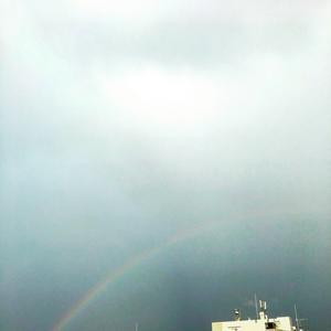 夕方の虹 - くちびるにトウガラシ