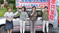 清瀬市議団と一緒に「終戦の日宣伝」 - こんにちは 原のり子です