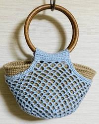 細編み&ネット編みバッグ(鈎針) - 日々綴り