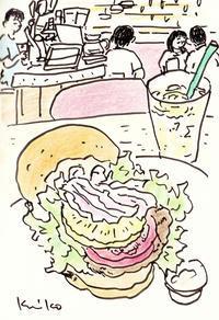 ハンバーガー - あおいとりスケッチ