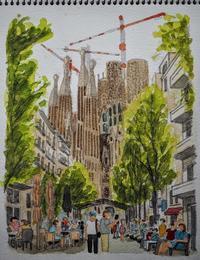 スペインの旅:バルセロナ - オヤジの水彩画集