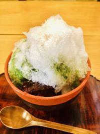 和菓子屋さんのかき氷、原宿のキューバなシエスタ - マコト日記