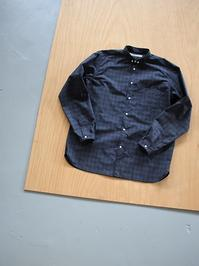 OLDMAN'S TAILORSMALL BD COLLOR SHIRT / TYPE WRITER CLOTH - N.CHECK - 『Bumpkins putting on airs』