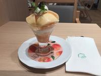 【京橋千疋屋】夫が食べた桃のミニパフェとタリーズのアイスラッシュ - お散歩アルバム・・夏空の下で