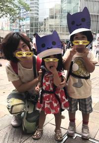 【テレ朝夏祭り】息子と娘、大好きなマスクにゃんのニュースにチラリ。ドラえもんや出木杉君。 - 漢那ゆきのブログ