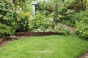 芝のお手入れ 秋の準備を感じ始めた庭 - miyorinの秘密のお庭