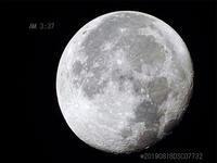 日の出前に月を撮りました。 2019/08/18 - 写真で楽しんでます! スマホ画像!