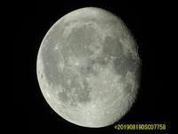 月を撮りました。 2019/08/19 - 写真で楽しんでます! スマホ画像!