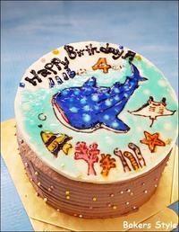 ジンベエザメのバースデーケーキ♪ - Bakers Style