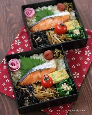 今日のbento(`・ω・´)♪ - **  mana's Kitchen **
