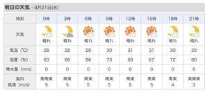 台風11号、24日(土)、台湾の南へ接近。 - 沖縄の風