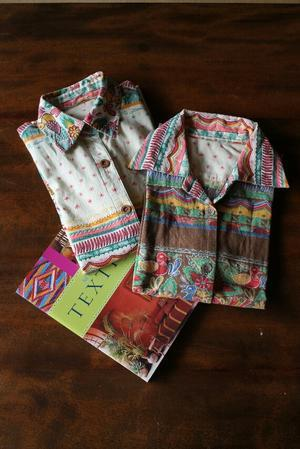 シャツ作り。柄シャツ - 刺繍や縫い物 生け花と庭仕事