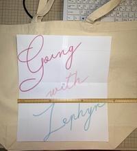 バッグの刺繍やり直し~! - Atelier Chou