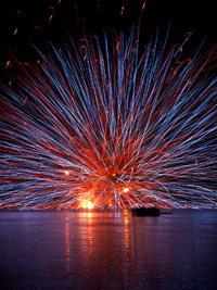 伊佐沼の花火 - やよいの空