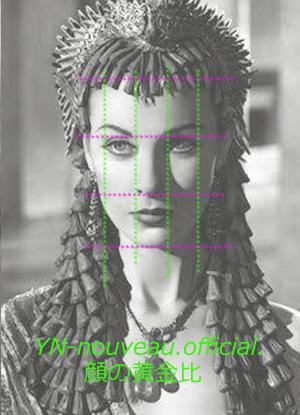 顔の黄金比(美印象)イメージコンサルタント:ヌーヴォーオフィシャル - パーソナルカラー診断&骨格診断、顔診断♪