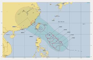 台風11号、24日(土)夕方、台湾上陸。 - 沖縄の風