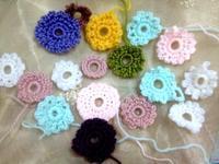 ☆かぎ針編みの花モチーフ☆ - ガジャのねーさんの  空をみあげて☆ Hazle cucu ☆