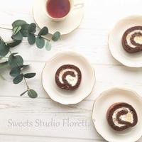 ココアロールケーキを作ってみた - Sweets Studio Floretta* Flower Cake & Sweets Class@SHIGA