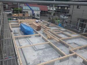 岩泉歯科医院新築工事現地での建て方開始です! -