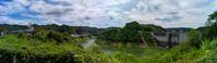 山岡日本一の木製水車と小里川ダム - え~えふ写真館
