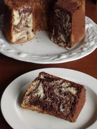 マーブル・シフォンケーキ - Baking Daily@TM5