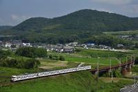 415系 日豊線 杵築俯瞰 - 鉄路カレンダー