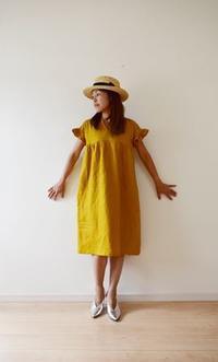 秋色のフリルワンピースが完成しました♫ - 親子お揃いコーデ服omusubi-five(オムスビファイブ)