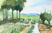 お墓のある風景 - ryuuの手習い