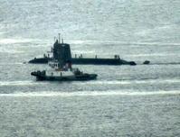 8月23日(金)、三菱神戸からそうりゅう型潜水艦が出港しました - フォトカフェ情報