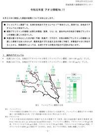 【アオコ情報(№11)】 - ぴゅあちゃんの部屋